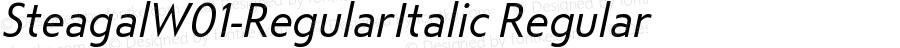 SteagalW01-RegularItalic Regular Version 1.00