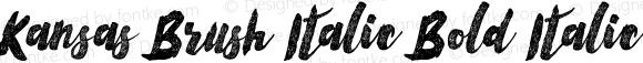 Kansas Brush Italic Bold Italic