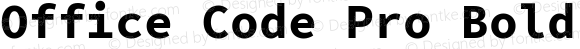 Office Code Pro Bold Regular Version 1.004