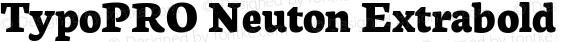 TypoPRO Neuton Extrabold