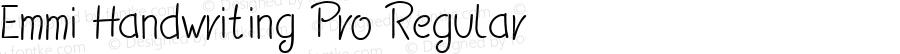Emmi Handwriting Pro Regular Version 1.00 August 25, 2014, initial release