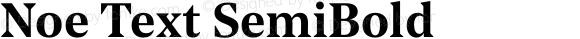 Noe Text SemiBold