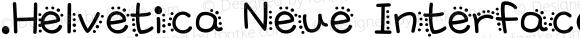 .Helvetica Neue Interface Bold Italic