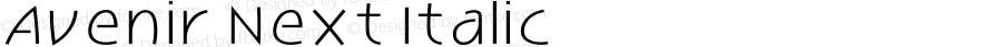 Avenir Next Italic
