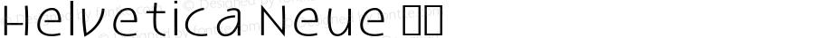 Helvetica Neue Italic