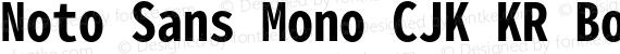 Noto Sans Mono CJK KR Bold Regular preview image