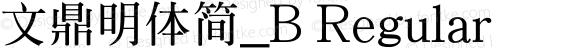 文鼎明體簡_B Regular Version 1.00
