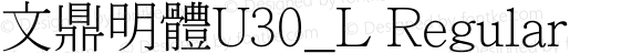 文鼎明體U30_L Regular Version 1.00
