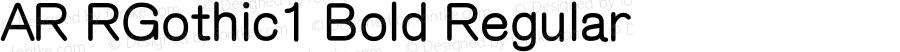 AR RGothic1 Bold Regular Version 2.10