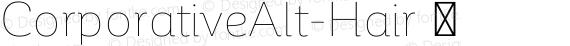 CorporativeAlt-Hair ☞ preview image