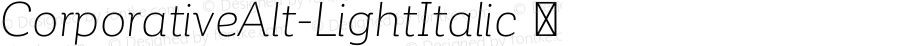 ☞Corporative Alt Light Italic