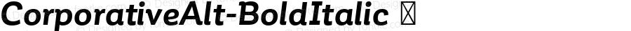 ☞Corporative Alt Bold Italic