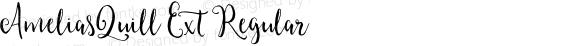 AmeliasQuill Ext Regular Version 1.00 2015