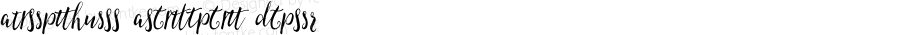 AmeliasQuill Alternates Italic Version 1.00 2015