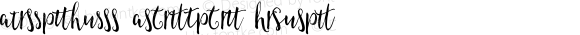 AmeliasQuill Alternates Regular Version 1.00 2015