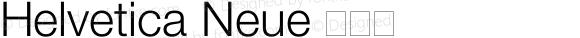 Helvetica Neue 细斜体