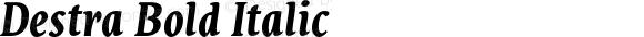 Destra Bold Italic