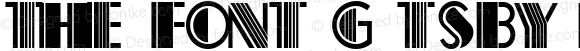 The Font Gatsby Regular Version 1.000