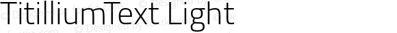 TitilliumText Light
