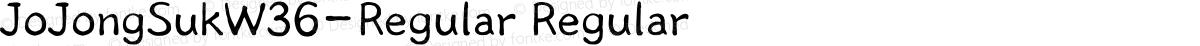 JoJongSukW36-Regular Regular