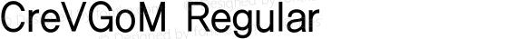 CreVGoM Regular Version 2.00; 빌드 20120415