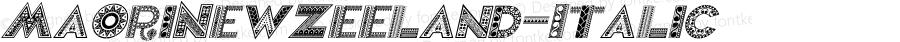 MaoriNewZeeland-Italic ☞ Version 1.000;com.myfonts.easy.otto-maurer.maori-new-zeeland.italic.wfkit2.version.4qkF