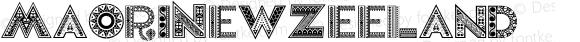 MaoriNewZeeland ☞ 1.000;com.myfonts.easy.otto-maurer.maori-new-zeeland.regular.wfkit2.version.4qkB