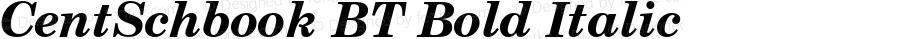 Century Schoolbook Bold Italic BT