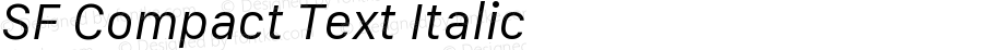 SF Compact Text Italic