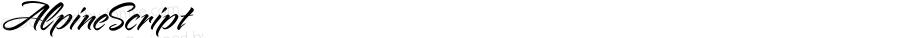 AlpineScript ☞ Version 1.000;com.myfonts.easy.charlesborges.alpine-script.regular.wfkit2.version.3deU