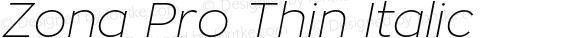 Zona Pro Thin Italic