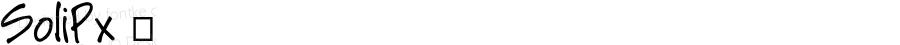SoliPx ☞ Version 4.5;com.myfonts.easy.pixilate.soli-px.regular.wfkit2.version.3RhD