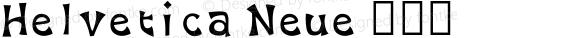 Helvetica Neue 超细体