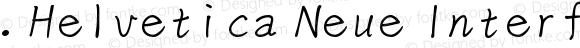.Helvetica Neue Interface Light