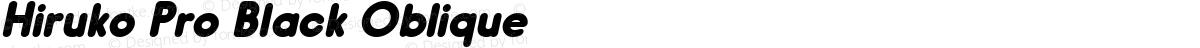 Hiruko Pro Black Oblique