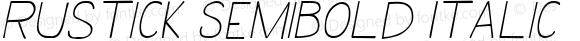 Rustick SemiBold Italic