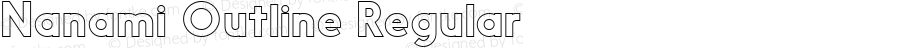 Nanami Outline Regular