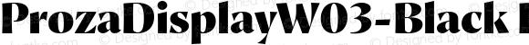 ProzaDisplayW03-Black Regular Version 2.203