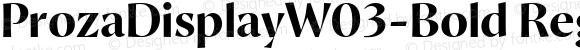 ProzaDisplayW03-Bold Regular Version 2.203