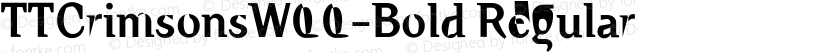 TTCrimsonsW00-Bold Regular Preview Image