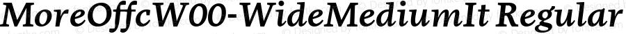 MoreOffcW00-WideMediumIt Regular Version 7.504