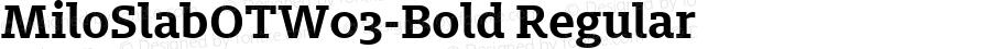 MiloSlabOTW03-Bold Regular Version 7.504