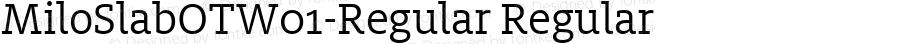 MiloSlabOTW01-Regular Regular Version 7.504