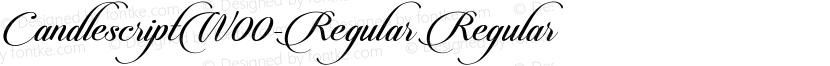 CandlescriptW00-Regular Regular Preview Image