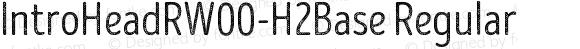IntroHeadRW00-H2Base Regular Version 1.00