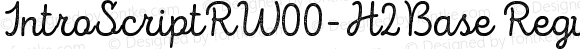 IntroScriptRW00-H2Base Regular Version 1.00