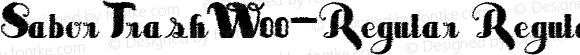 SaborTrashW00-Regular Regular Version 3.50
