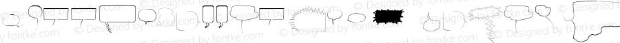 SpeechBubblesW95-Outline Regular Version 1.00
