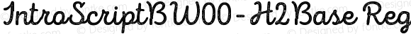 IntroScriptBW00-H2Base Regular Version 1.00