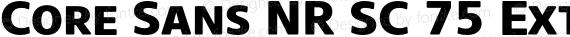 Core Sans NR SC 75 Extrabold Regular preview image